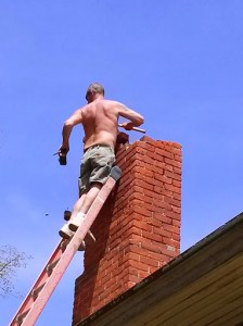 Chimney coming off