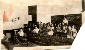 Bass Lake School unknown date Walter E on pic back from Jeanette Erickson