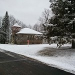 Snow on the schoolhouse