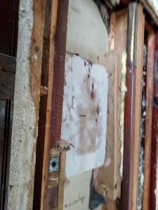 Makeshift door frame