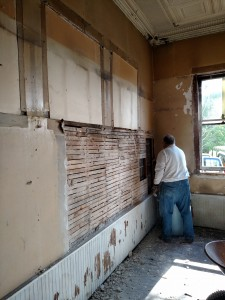Lath and plaster coming down