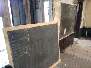 Two chalkboards