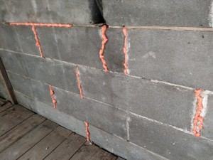 Orange spray foam