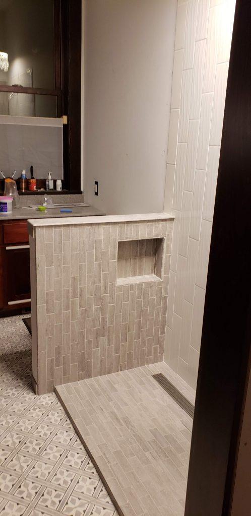 shower knee wall
